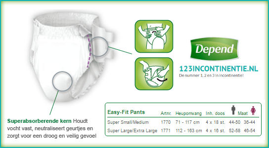Depend Pants Super Easy-Fit